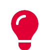 Red lightbulb icon