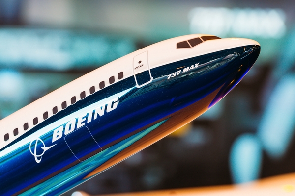 Boeing 737 MAX aircraft model